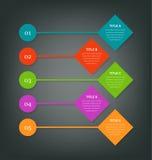 Pasos para los información-gráficos del negocio Libre Illustration