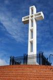 Pasos rojos cruzados del Mt Soledad Fotografía de archivo