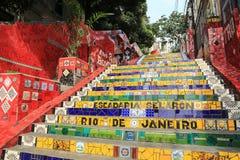 Pasos tejados en el lapa en Rio de Janeiro Brazil Fotos de archivo libres de regalías
