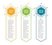 Pasos verticales, elementos infographic Menú colorido del esquema para el interfaz del app Opciones del número Diseño web de boto libre illustration