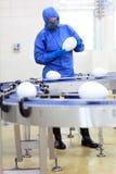 pasowego konwejeru fabryczny gmo naukowiec zdjęcia royalty free