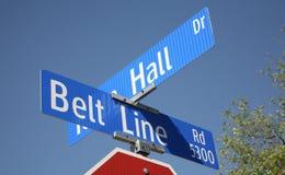 Pasowej linii droga, Addison Teksas Zdjęcie Royalty Free