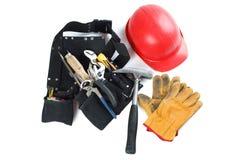 pasowi rękawiczkowi hełma skóry narzędzia Fotografia Stock