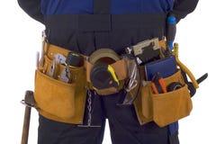 pasowy budowy narzędzia pracownik Obraz Royalty Free