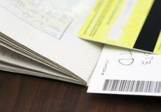 Paspoort en kaarten royalty-vrije stock foto