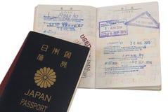 Paspoort en visumimmigratiezegels Royalty-vrije Stock Fotografie