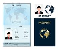 Paspoort met biometrische gegevens Identificatiedocument Royalty-vrije Stock Foto