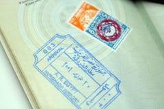 Paspoort met de zegel van Egypte royalty-vrije stock afbeelding