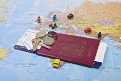 Paspoort, Reis Stock Foto