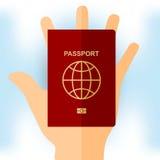 Paspoort ter beschikking Vector Illustratie