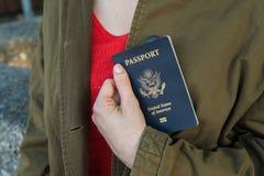 Paspoort ter beschikking Stock Afbeeldingen