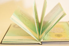 Paspoort - Visum stock afbeeldingen