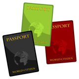 Paspoorten Royalty-vrije Stock Foto's