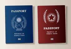 Paspoortreeks Royalty-vrije Stock Afbeeldingen