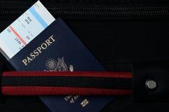 Pasport and bording pass Stock Photos