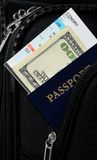Pasport in a suitcase Royalty Free Stock Photography