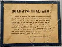 PasquÃn fascista italiano Guerra civile spagnola fotografia stock libera da diritti