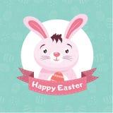 Pasqua Bunny On The Blue Background Fotografia Stock Libera da Diritti