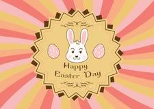 Pasqua Bunny On The Color Background Fotografie Stock Libere da Diritti