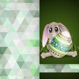 Pasqua Bunny With Colorful Egg illustrazione di stock