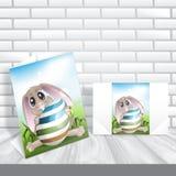 Pasqua Bunny With Colorful Egg. illustrazione vettoriale