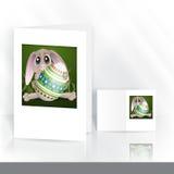 Pasqua Bunny With Colorful Egg illustrazione vettoriale