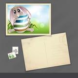Pasqua Bunny With Colorful Egg. illustrazione di stock
