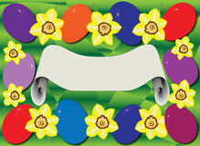 Pasqua Card_Frame royalty illustrazione gratis