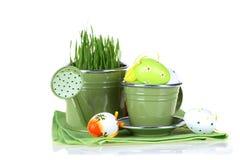 Pasqua Colourful ha decorato le uova isolate su fondo bianco Fotografie Stock