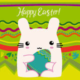 Pasqua, coniglietto rosa Fotografie Stock