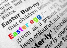 Pasqua in dizionario Immagini Stock Libere da Diritti