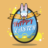 Pasqua felice Bunny Vector Royalty Illustrazione gratis