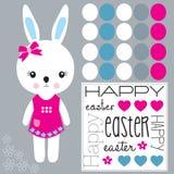 Pasqua felice Bunny Vector Fotografia Stock Libera da Diritti