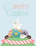 Pasqua felice C illustrazione di stock