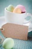 Pasqua felice - carta dell'invito Immagini Stock Libere da Diritti