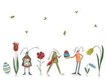 Pasqua felice Cartolina d'auguri Immagini Stock Libere da Diritti