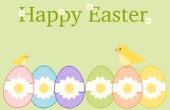 Pasqua felice con il fondo delle uova Immagini Stock Libere da Diritti