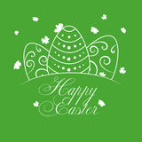 Pasqua felice con la siluetta delle uova bianche Fotografia Stock
