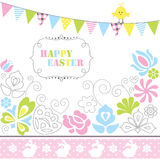 Pasqua felice d'annata Immagine Stock