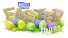 Pasqua felice, illustrazione 3d illustrazione vettoriale