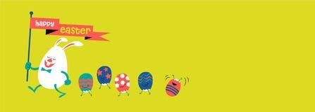 Pasqua felice, illustrazione sveglia Fotografie Stock Libere da Diritti