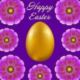 Pasqua felice isolata su fondo viola illustrazione di stock