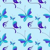 Pasqua felice Reticolo senza giunte con gli uccelli illustrazione vettoriale