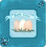 Pasqua felice retro illustrazione vettoriale