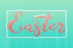 Pasqua felice su fondo blu-chiaro Immagine Stock Libera da Diritti