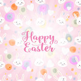 Pasqua felice sui precedenti leggeri Fotografie Stock