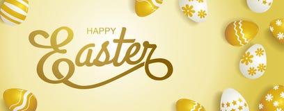 Pasqua felice, tipografia Fotografia Stock