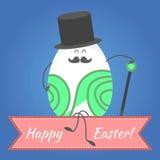 Pasqua felice, uova felici Fotografie Stock