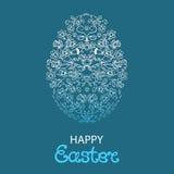 Pasqua felice Uovo pasquale dai fiori e dalle erbe Immagine Stock
