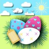 Pasqua neonata di uova colorate Multi Immagine Stock